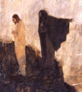 Temptation of Christ by J. Kirk Richards